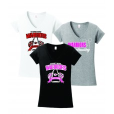 Warriors Cheerleading Ladies V-Neck