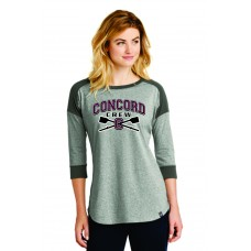 Concord Crew Ladies New Era 3/4 Sleeve Tee