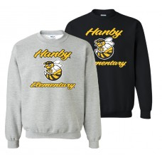 Hanby Fleece Crew Neck Sweat Shirt